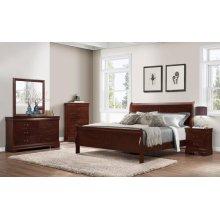 Chablis Cherry LP Queen Bedroom Ste: Queen Bed, Nightstand, Dresser & Mirror