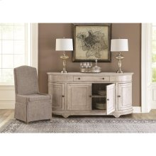 Elizabeth - Demilune Buffet - Smokey White Finish