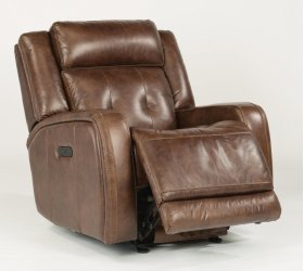 Jude Leather Power Gliding Recliner with Power Headrest