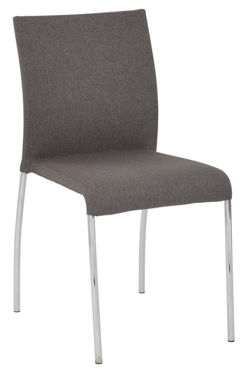 Conway Stacking Chair In Smoke Fabric Fully Assembled 2 Pack