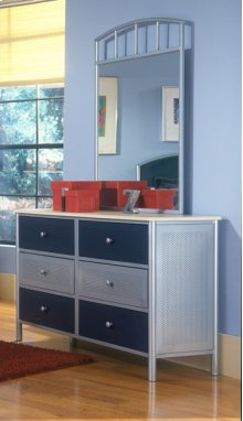 Universal Dresser Silver and Navy