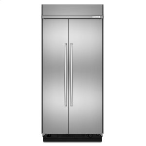 KitchenAid25.5 cu. ft 42-Inch Width Built-In Side by Side Refrigerator with PrintShield Finish - PrintShield Stainless