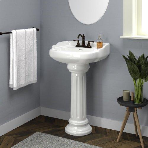 "Vicki Pedestal Lavatory - 4"" Centerset / White"