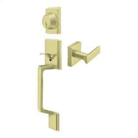 Highgate Handleset with Zinc Livingston Lever Entry - Polished Brass