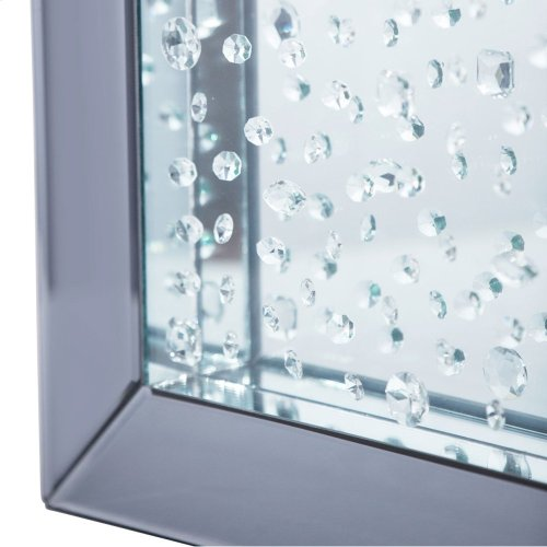 Square Wall Mirror W/crystals