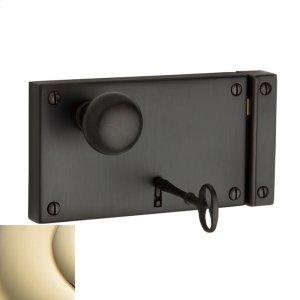 Lifetime Polished Brass 5630 Horizontal Rim Lock Product Image