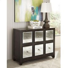 Transitional Rustic Brown Accent Cabinet