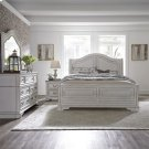Queen Sleigh Bed, Dresser & Mirror, NS Product Image