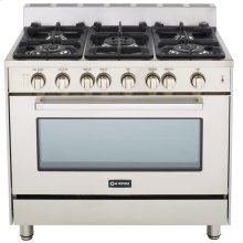 "Stainless Steel 36"" Gas Range with Single Oven"