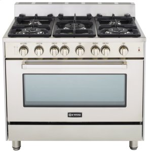 "VeronaStainless Steel 36"" Gas Range with Single Oven"