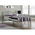 BED - TWIN SIZE / SILVER METAL FRAME ONLY Product Image