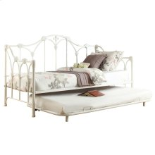 Metal Daybed with Trundle, White