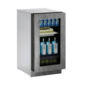 "U-Line Modular 3000 Series 18"" Glass Door Refrigerator With Integrated Frame Finish And Field Reversible Door Swing (115 Volts / 60 Hz)"