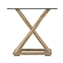 Resort - Driftwood Flats End Table In Weathered Pier
