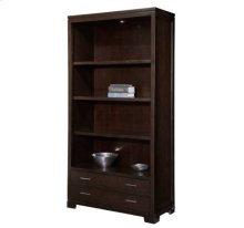 office@home Mocha Transitional Bookcase