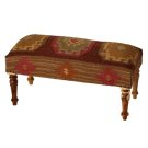 Red Multi Medallion Kilim Bench Product Image