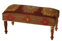 Red Multi Medallion Kilim Bench
