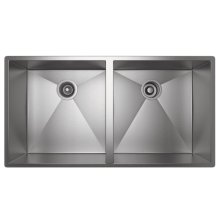 ROHL 2 Bowl Stainless Steel Kitchen Sink