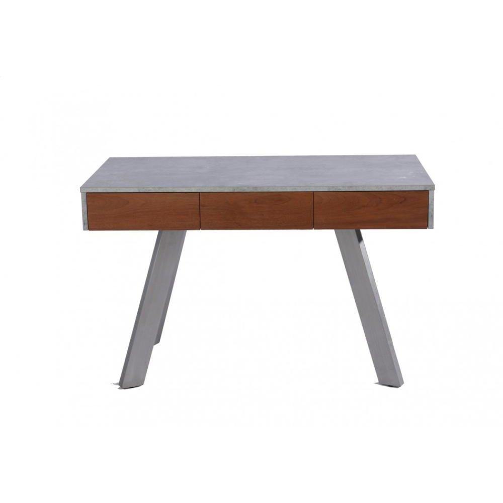 Modrest Austin Contemporary Concrete & Walnut Desk