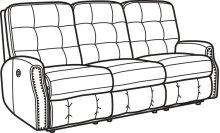Devon Leather Power Reclining Sofa with Nailhead Trim