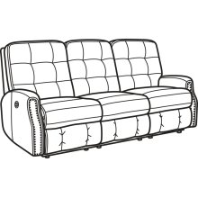 Devon Leather Power Reclining Sofa with Nailhead Trim