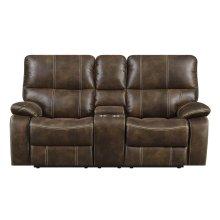 Emerald Home Jessie James Motion Console Loveseat Chocolate Brown U7130-09-15