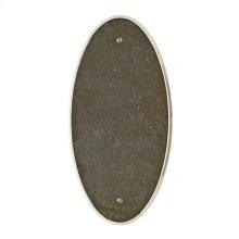 Oval Escutcheon - E560 Silicon Bronze Brushed