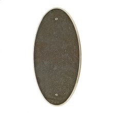 Oval Escutcheon - E560 Silicon Bronze Brushed