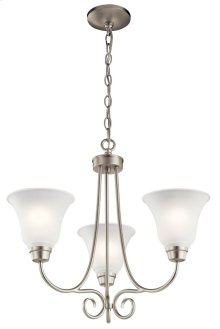 Bixler 3 Light Chandelier Brushed Nickel