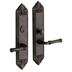 Distressed Venetian Bronze Fenwick Escutcheon Entrance Set