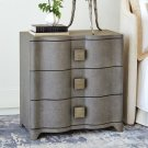 Toile Linen Bedside Chest-Grey Product Image