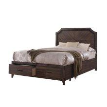 Richmond Rustic Dark Grey Oak Eastern King Bed
