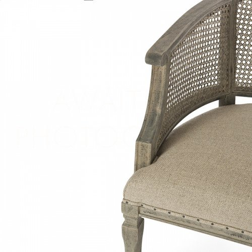 Mary Katherine Occasional Chair in Linen/Cane Back