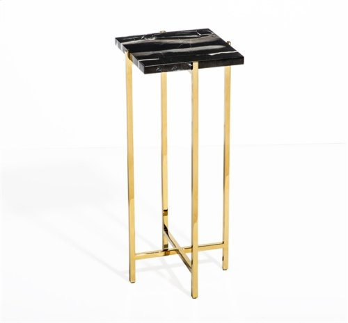 Laurent Square Drink Table - Black