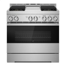 """36"""" NOIR Gas Professional-Style Range with Chrome-Infused Griddle"""