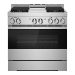 "Jenn-Air36"" NOIR Gas Professional-Style Range with Chrome-Infused Griddle"