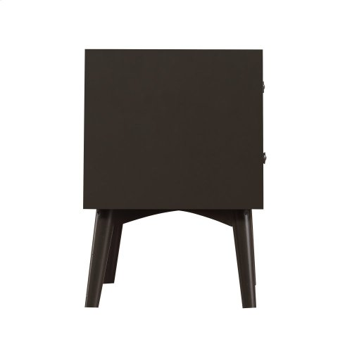 Emerald Home Home Decor 2 Drawer Nightstand-charcoal B351-04gry