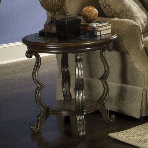 Ambrosia - Round Side Table - Terra Sienna Finish