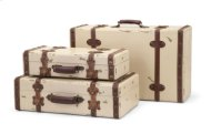 Antique Ivory Suitcases - Set of 3