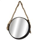 Large Wall Mirror with Twisted Rope Hanger Product Image