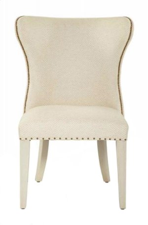 Salon Upholstered Wing Dining Chair in Alabaster (341)