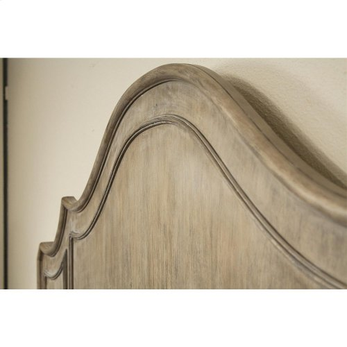 Corinne Queen Curved Panel Bed in Sun-drenched Acacia Finish