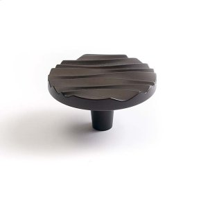 Oil Rubbed Bronze Wave Large Round Knob 2 1/4 Inch