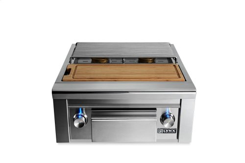 Prep Center with Double Side Burner LP