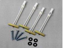 White Steel Stud Mounting Kit for LL11, ML11, VLL10, VLL5, VLT14, VLT15, VLT5, VML10, VML5, VMPL3, VMT14, VMT15 and VMT5