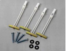White Steel Stud Mounting Kit for LL11, ML11, VLL10, VLL5, VLT14, VLT15, VLT5, VML10, VML5, VMPL3, VMT14, VMT15 and VMT5