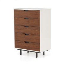 Tucker 5 Drawer Dresser-white