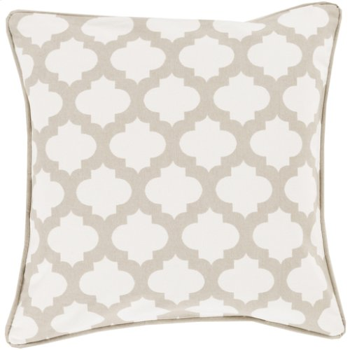 """Morrocan Printed Lattice MPL-007 18"""" x 18"""" Pillow Shell with Down Insert"""