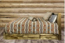 Homestead Platform Beds with Storage, Stain & Lacquer Finish
