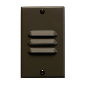 Vertical Louvered LED Step Light Architectural Bronze